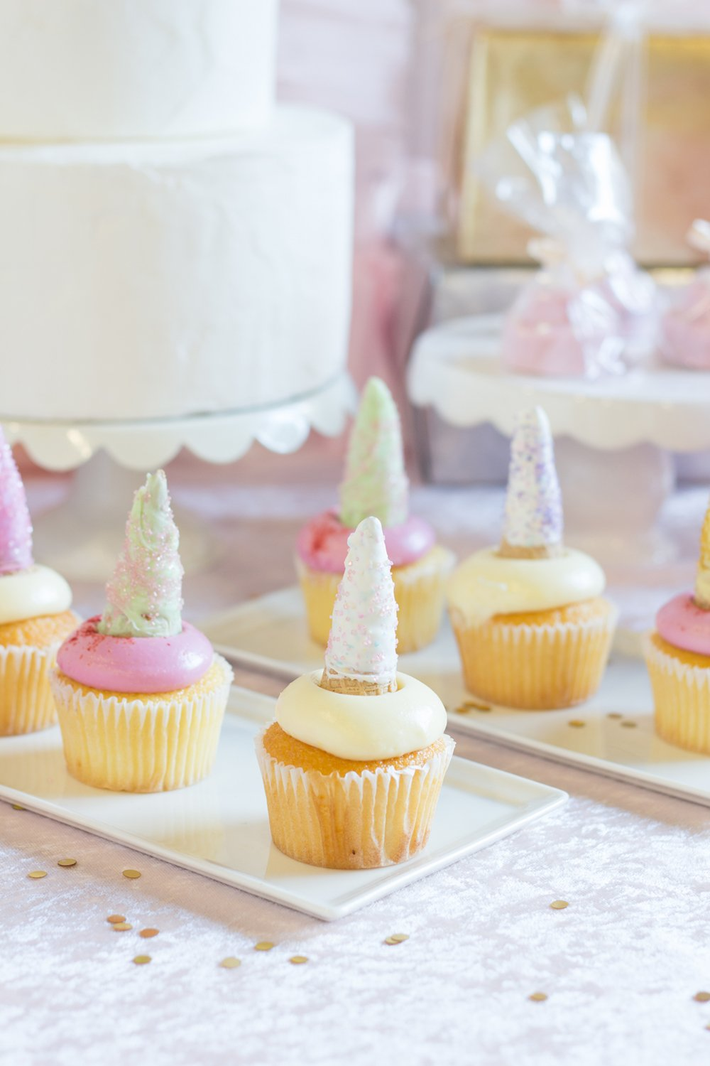 DIY Unicorn Horn Cupcake Toppers - Beau-coup.com