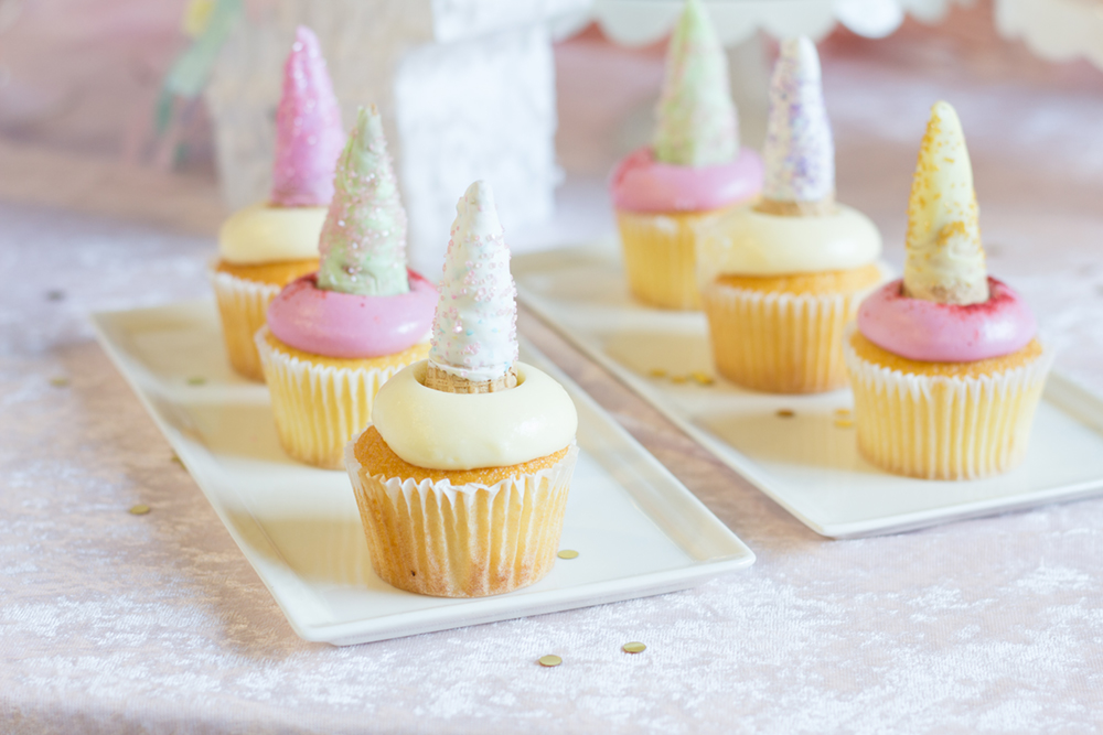 Unicorn Horn Cupcake Toppers - Beau-coup.com