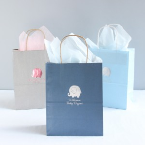 Elephant-themed favor bags