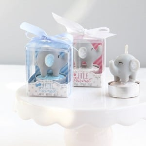 Elephant-themed candle favors