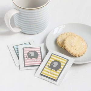 Elephant-themed tea favors