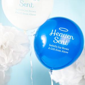 Angel-Themed Shower Balloons
