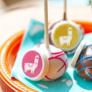 Fiesta Baby Shower Cake Pops